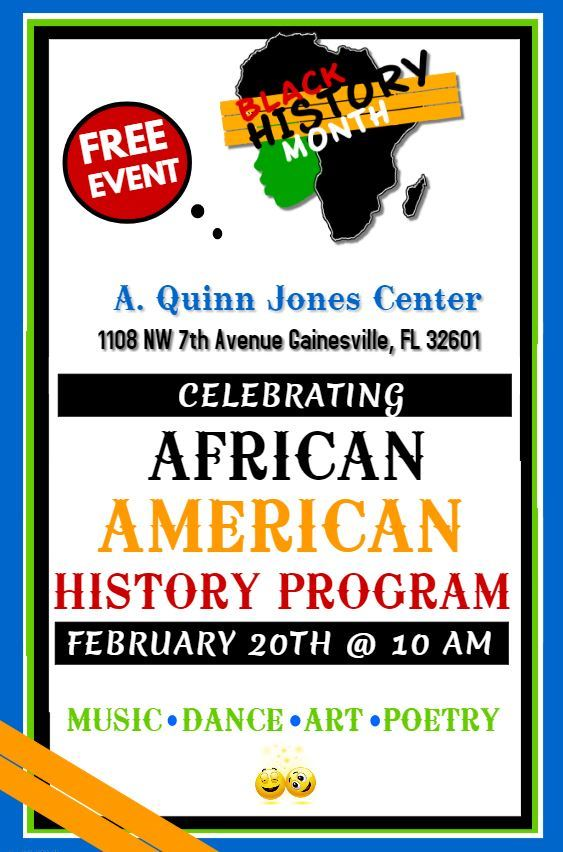 African American History Program February 20 @ 10am