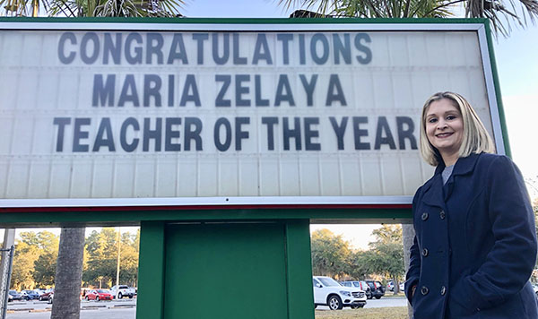 Mrs. Zelaya to represent district high schools at the Teacher of the Year Program