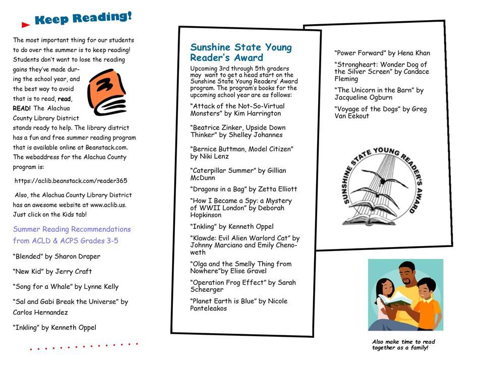 Summer Reading List for Upcoming 3rd-5th Graders