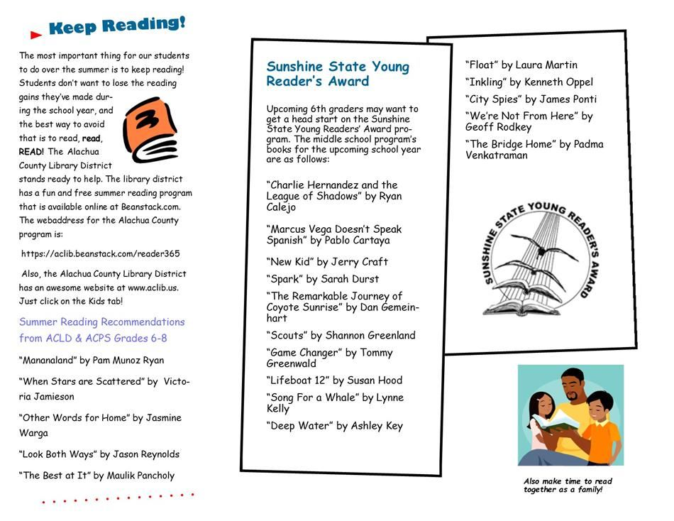 Summer Reading Lists for Graduating 5th Graders