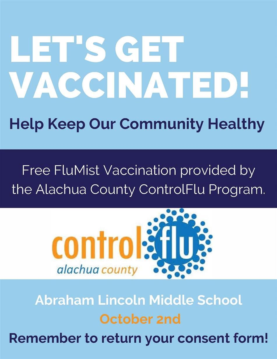FluMist Vaccination Day - October 2nd