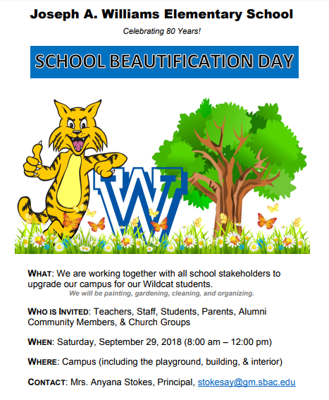 School Beautification flyer