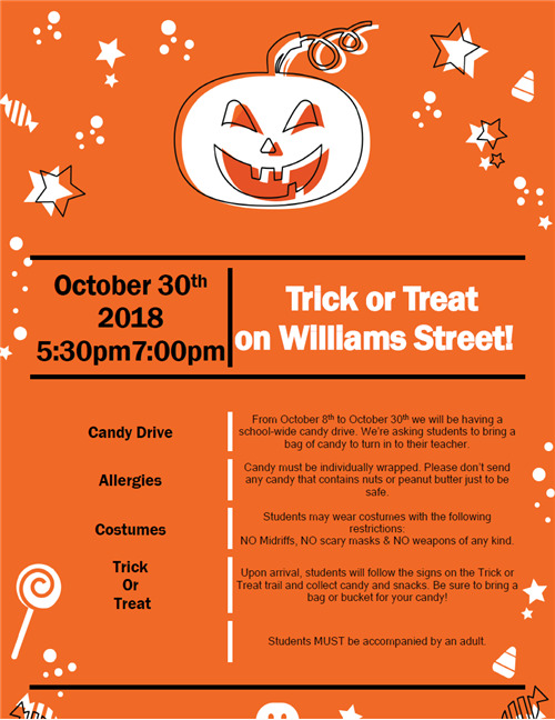 Trick or Treat flyer