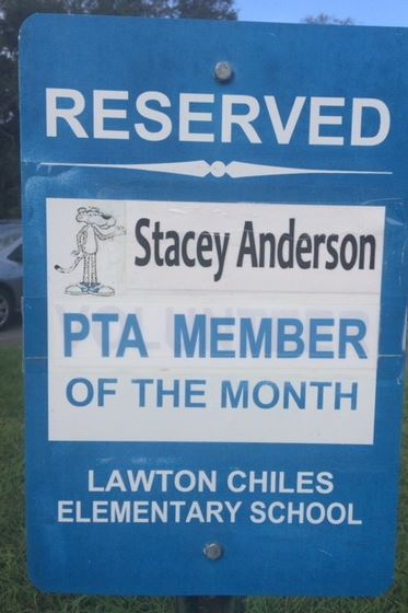 NOV pta member of the month