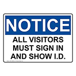 All Parents and Visitors MUST show a photo ID