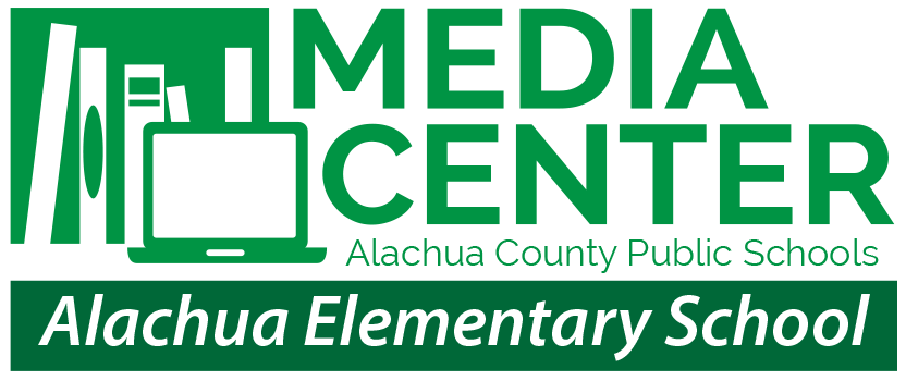 Media Center Graphic identifying Alachua Elementary School