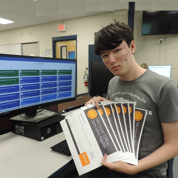 Newberry High student earns master level industry certification