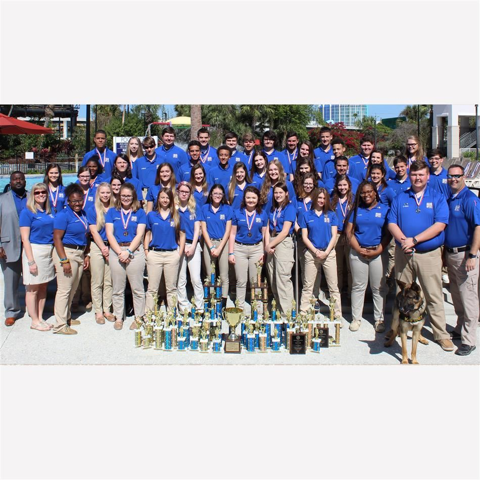 Newberry High School Academy of Criminal Justice wins fourth straight state championship